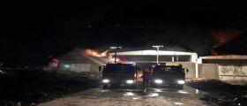 Brucia capannone nel Pavese : E