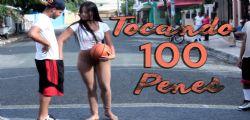 Step Feliz : La sexy modella Brasiliana tasta parti intime di 100 uomini.