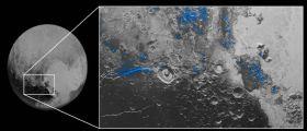 Cielo azzurro e ghiaccio rosso su Plutone