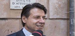 Premier Giuseppe Conte oggi al Senato per la fiducia al governo M5S Lega