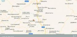 Terremoto Oggi Umbria : scossa 3.1 vicino Trevi e Foligno