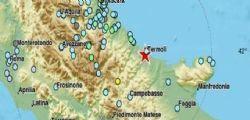 Terremoto Oggi 16 Agosto : scossa di magnitudo 5.2 a Montecilfone