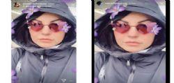 Il selfie di Eliana Michelazzo sul finto profilo Instagram di Mark Caltagirone