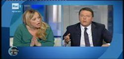 Porta a Porta  : Il duro confronto tra Giorgia Meloni e Matteo Renzi