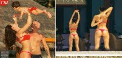 Il bikini di Marica Pellegrinelli con Eros alle Maldive
