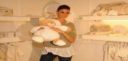 Melissa Satta incinta al Pitti Bimbo