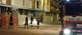 Gallipoli, esplosione in un cantiere edile : Distrutto l