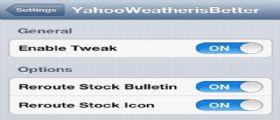 Cydia YahooWeather is Better :Impostiamo Yahoo Meteo come applicazione nativa di iOS