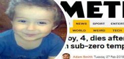 Il piccolo Bogdan sonnambulo morto nella notte : esce di casa a -20 gradi