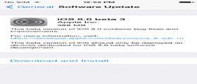 iOS 8 beta 3 Download : La Apple lo rilascia agli sviluppatori