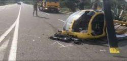 Cagliari : cade un elicottero sulla Statale