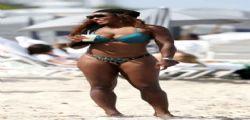 Serena Williams muscolosa ed esplosiva a Miami