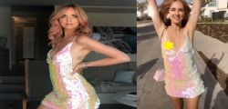 Chiara Ferragni tradita dal vestito durante l'addio al nubilato ad Ibiza