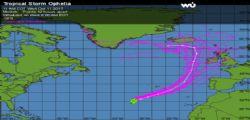 National Hurricane Center : Ophelia, la tempesta tropicale diventa uragano e si dirige verso l'Europa
