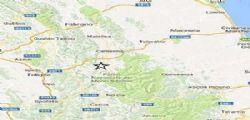 Terremoto Oggi : scosse magnitudo 4 tra Macerata e Perugia