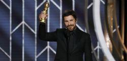 Golden Globe 2019! Christian Bale ringrazia Satana