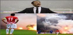 Italia Croazia 1-1 : vincono i razzi lanciati in campo