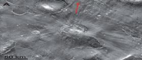 Marte : Un solo cratere all
