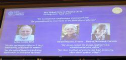 Nobel Fisica 2018 a Askin,Mourou,Strickland per i loro studi sulla luce