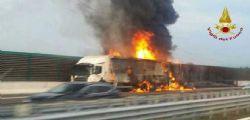 Incidente A4, scoppia la bombola di gas : Due morti