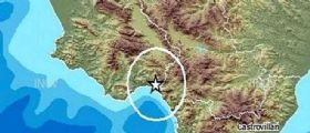 Terremoto Oggi in Campania-Calabria, epicentro nel Golfo di Policastro : Scossa magnitudo 2.7