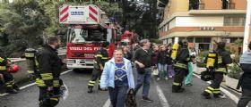 Roma, incendio all
