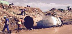 Relitto spaziale precipitato sulla miniera di Giada