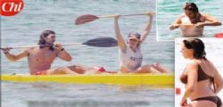 Claudia Gerini resta in topless a Sabaudia
