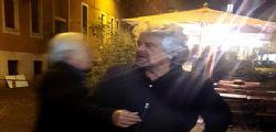 Beppe Grillo a Roma : Il comico genovese alla Camera per una conferenza sull