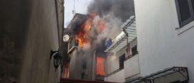 Napoli, incendio spaventoso a Giugliano : Un