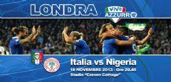 Italia-Nigeria diretta partita e streaming Amichevole Nazionale