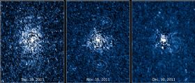Hubble mappa il materiale espulso intorno a T Pyxidis