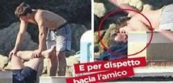 Luigi Berlusconi bacia l'amico per scherzo?