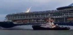 Venezia : nave da crociera in avaria nel canale della Giudecca