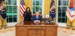 Presidente Donald Trump twitta foto con Kim Kardashian alla Casa Bianca