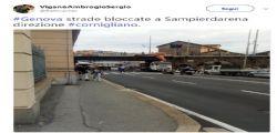 Traffico ferroviario in tilt Genova : Tir si schianta contro un ponte