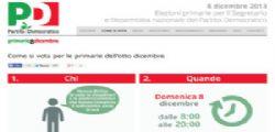Primarie Pd 8 Dicembre : Bastano 16 anni e 2 euro per votare