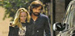 Andrea Pirlo e Valentina Baldini in giro per Milano