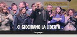Referendum : Beppe Grillo in piazza per il No