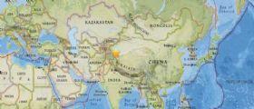 Cina : Scossa di terremoto magnitudo 6.4 nello Xingjiang