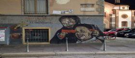 Falcone e Borsellino/ il murales sfregiato : Fermato un uomo di 32 anni