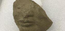Paestum : trovata testa tardoarcaica al Tempio Athena