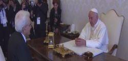 Papa Francesco riceve il presidente Sergio Mattarella