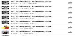 R.I.P Schumacher : Le pagine Facebook vergognose!