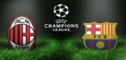Milan-Barcellona Diretta tv Streaming e Online Gratis Champions League