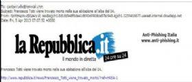 Allerta Malware : Totti è stato trovato morto