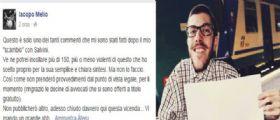 Iacopo Melio : Idolo disabile del web commenta il post di Salvini su Facebook