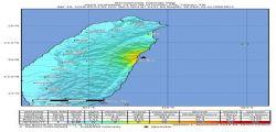 Terremoto Taiwan : scossa sismica di magnitudo 6