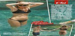 Alessia Marcuzzi sexy sirenetta in vacanza a Capri