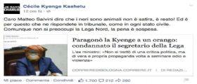 Foto Cecile Kyenge come scimmia :  Ex Parlamentare Lega Nord Fabio Rainieri condannato!